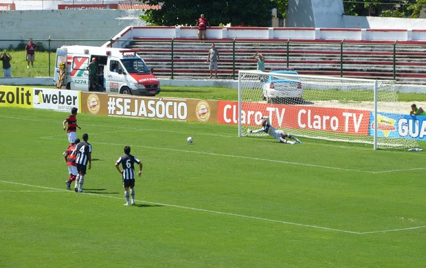 digão flamengo perde pênalti. Andrey Botafogo defende (Foto: Vicente Seda)