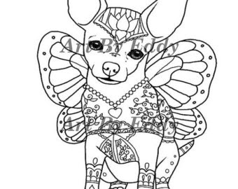 chihuahua dog coloring pages at getdrawings  free download