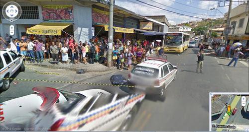 谷歌巴西街景地图发现尸体照片