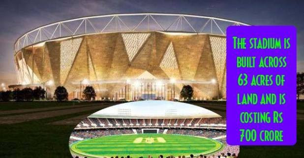 World's Largest Cricket stadium Now in Ahmedabad, Soon More than 1 lac Cricket fans to witness its magnificence