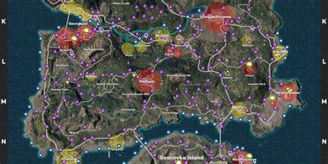 playerunknowns battlegrounds erangel maps loot maps