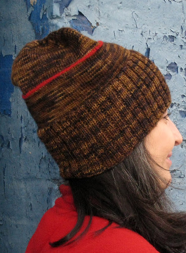 Sockhead hat with red stripe