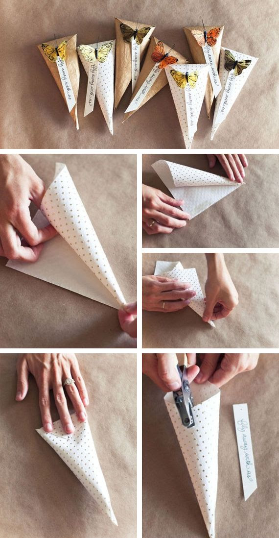 butterfly paper bags.