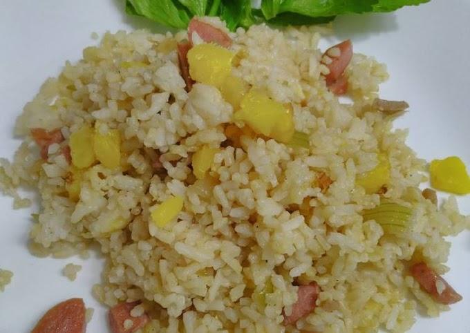 Cara Mudah Membuat Nasi goreng nanas Cita Rasa Tinggi