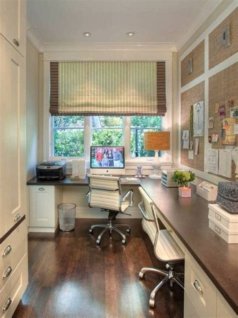 home office layout idea efficient   narrow space