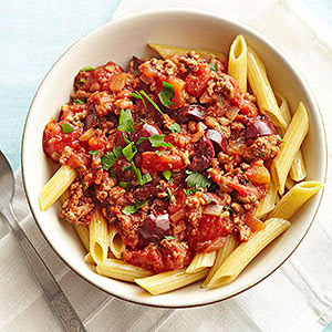 Pasta Puttanesca with Beef | Diabetic Living Online