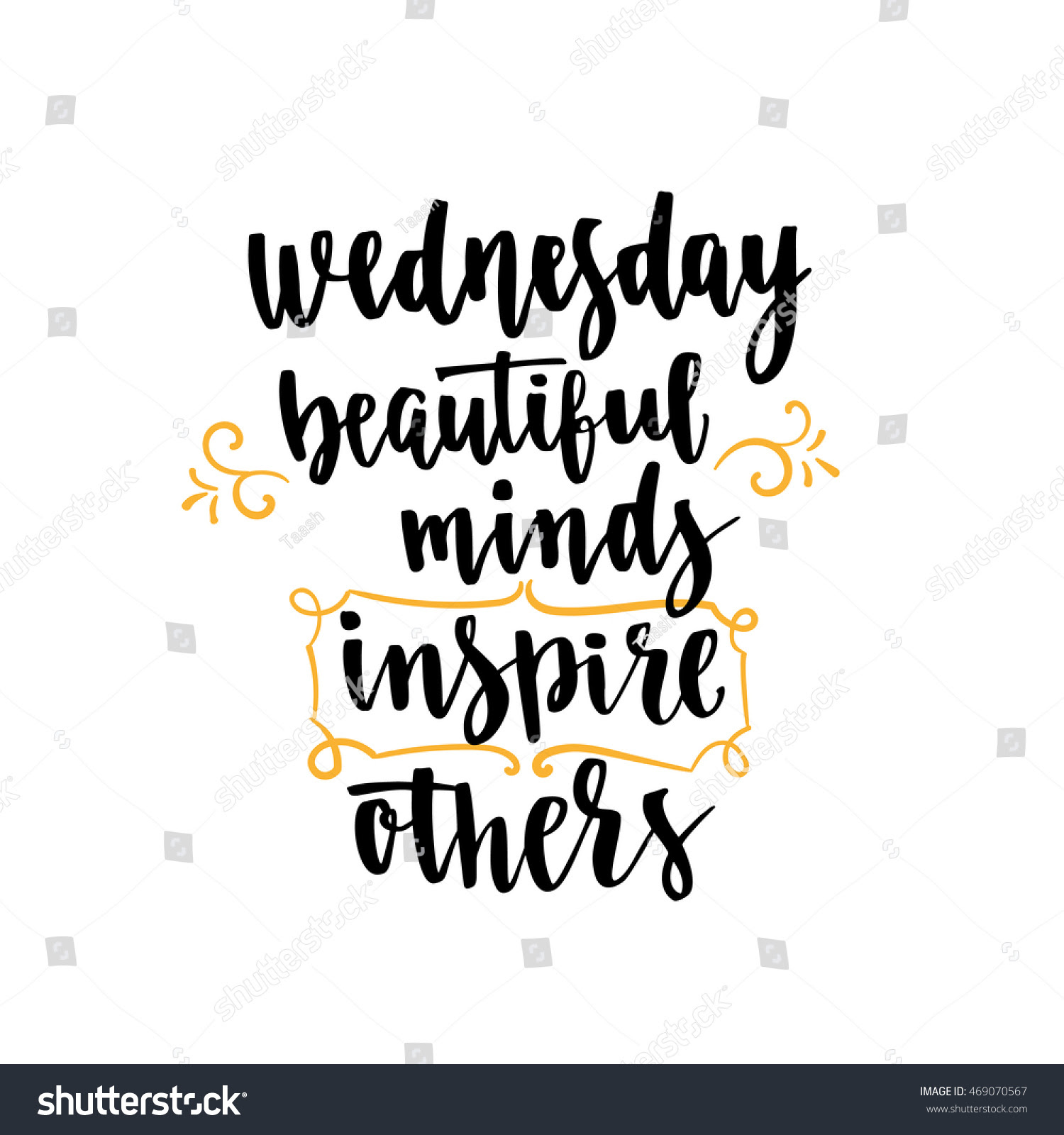Week Days Motivation Quotes Wednesday Vector Stock Vector ...