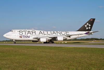 Thai Airways International Boeing 747-4D7 HS-TGW (msn 27724) (Star Alliance) MUC (Arnd Wolf). Image: 908810.