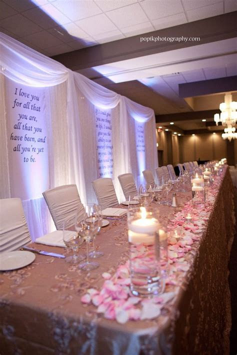 Affordable Backdrop Behind Head Table Options? What Did