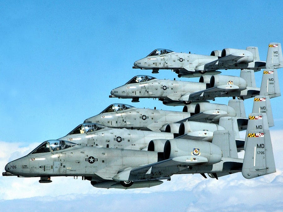 "The A-10 is more commonly known as the ""Warthog"" or ""Hog"""
