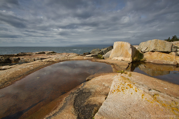 water and rocks on the Schoodic Peninsula, Acadia National Park