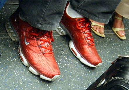 Metallic Red Trainers