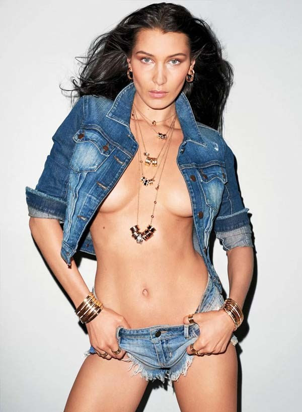 Bella Hadid looks sensual for V Magazine