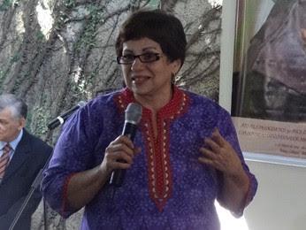 Amparo Araújo destacou importância da memória (Foto: Katherine Coutinho/G1)