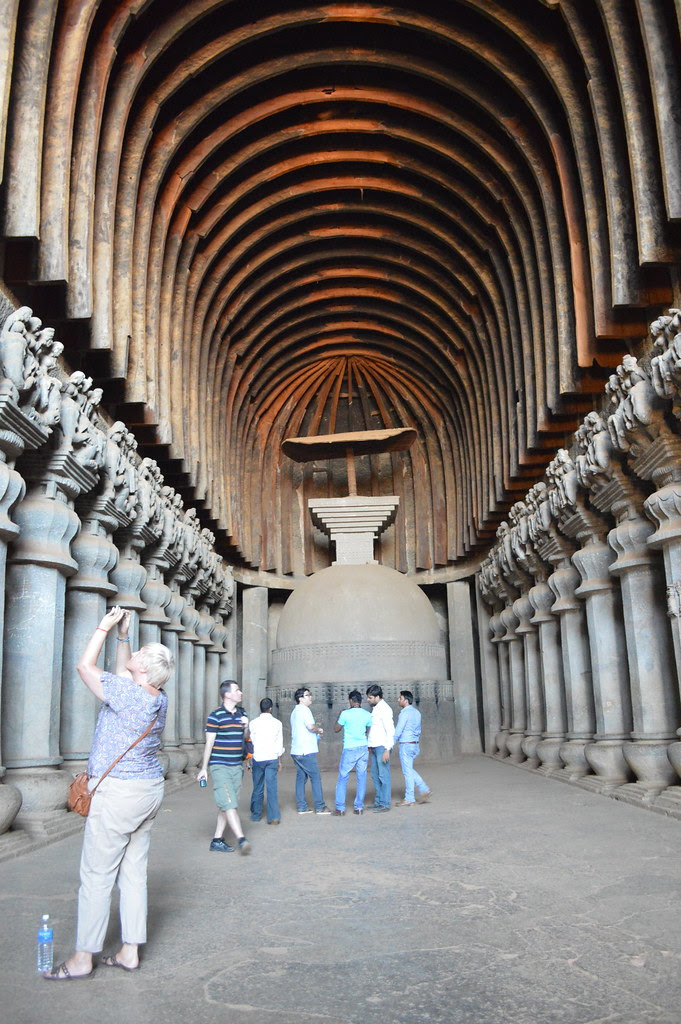 Ancient Buddhist Temples Karla Caves Pune Mumbai India