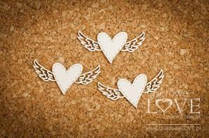 Tekturka - Serca ze skrzydłami - Simple Wedding