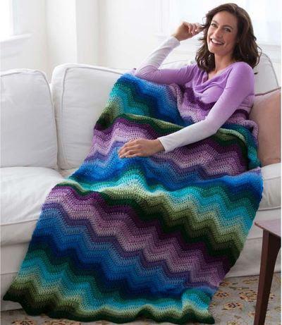 Spellbinding Ripple Blanket