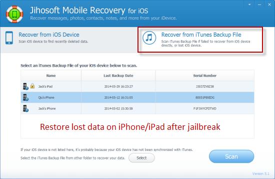 How to Restore iPhone\/iPad Data after Jailbreak