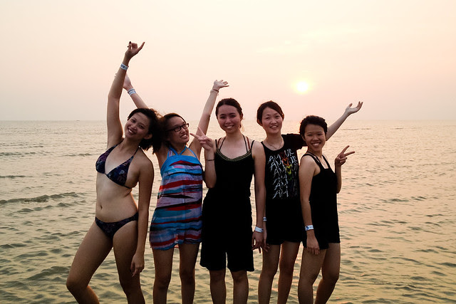 The Girls in Sunset