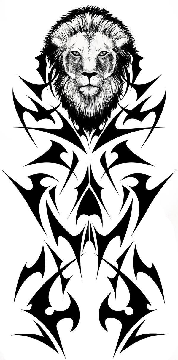 Tribal Lion Tattoo by *Fallingfreely on deviantART