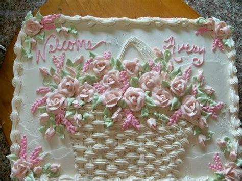 beautiful   Flower Basket Sheet Cake In Cakes By Kim