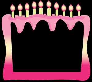 Cake Border Clip Art Birthday