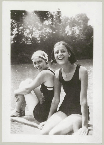 Two girls at the lake