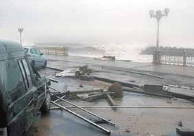 el temporal arrasa el cantábrico y se ceba con donosti