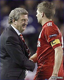 Liverpool manager Roy Hodgson (left) and Reds captain Steven Gerrard