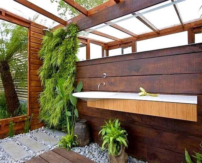 Outdoor Bathroom in
