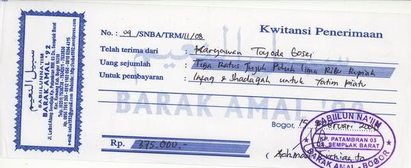 Contoh Kwitansi Untuk Donatur Contohlah Q