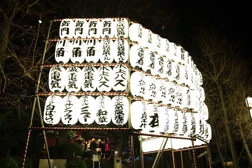 Lanterns near the temple bell