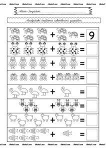 1 Sınıf Toplama Işlemi Etkinlik Sayfaları Sınıf öğretmenleri Için