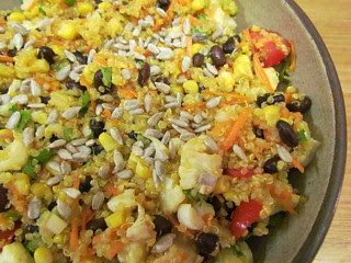 Citrus Dressed Quinoa and Black Bean Salad