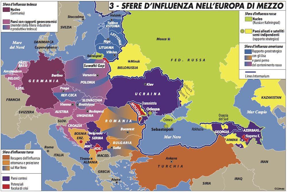 Risultati immagini per italia sfera d influenza