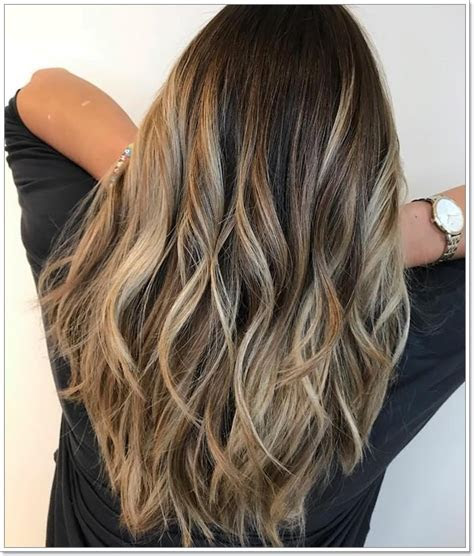 amazing brown hair  blonde highlights