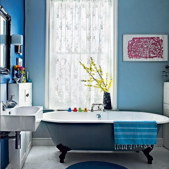 Modern blue bathroom | Bathroom decorating ideas ...