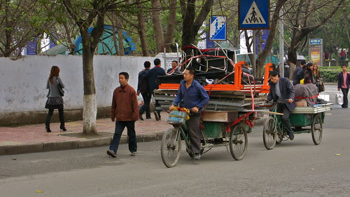 Loaded three-wheelers, Nanchong