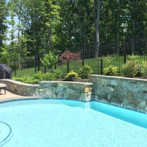 P2 Northern Virginia Pool Retaining Wall Landscaping 2 Nova