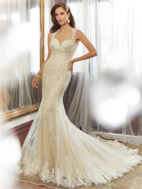 Sheath Wedding Dress with Chapel Train