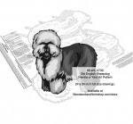Old English Sheepdog Yard Art Woodworking Pattern - fee plans from WoodworkersWorkshop® Online Store - Old English Sheepdogs,dogs,pets,animals,yard art,painting wood crafts,scrollsawing patterns,drawings,plywood,plywoodworking plans,woodworkers projects,workshop blueprints