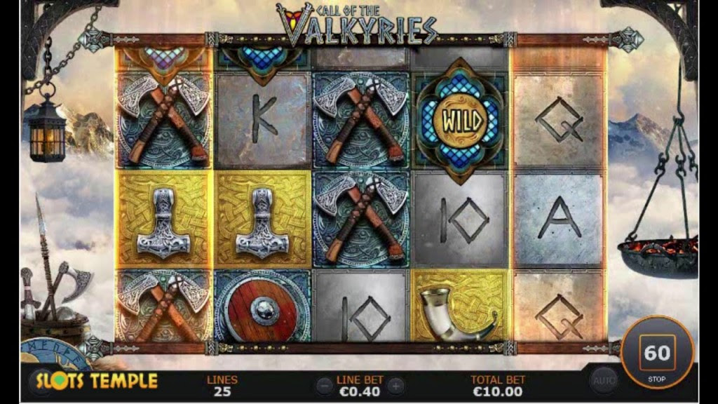 Call of the Valkyries: An Amazing Slot with Heavenly Bonuses.In Norse mythology, Valkyries have an important task to fulfill.They have to take warriors who died in battle to the majestic afterlife hall called Valhalla.This heavenlike hall set in Asgard is where all souls celebrate by feasting with the different Norse gods.Souls in Valhalla also receive great rewards for their time fighting.