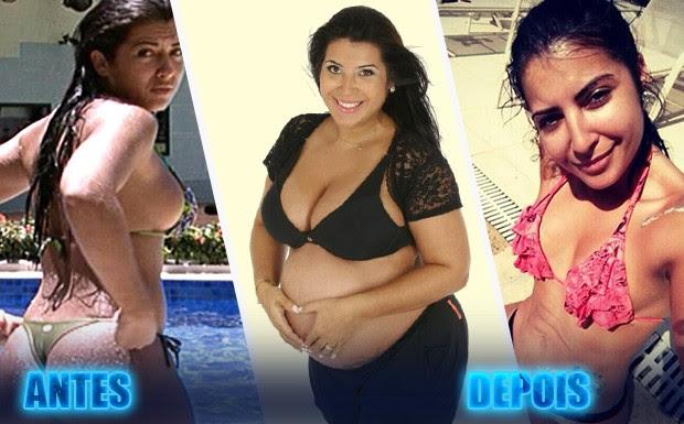 A carismática Priscila, do BBB9, está em sua melhor forma depois de engordar 30 quilos nas duas gestações (Foto: BBB/ TV Globo)