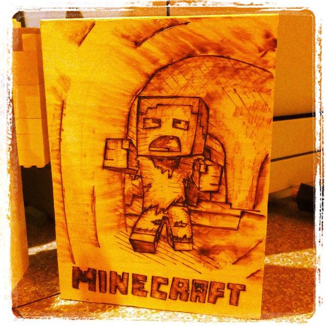 Minecraft Woodburning