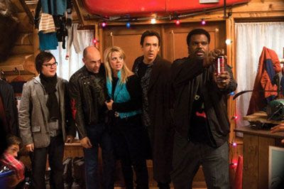 Craig Robinson and Co. pretend they're Russians to get out of a sticky situation in HOT TUB TIME MACHINE.