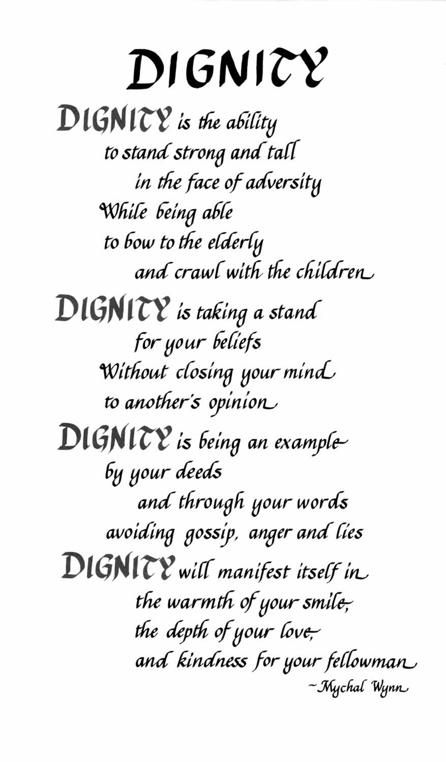 Quotes About Respect And Dignity 100 Quotes