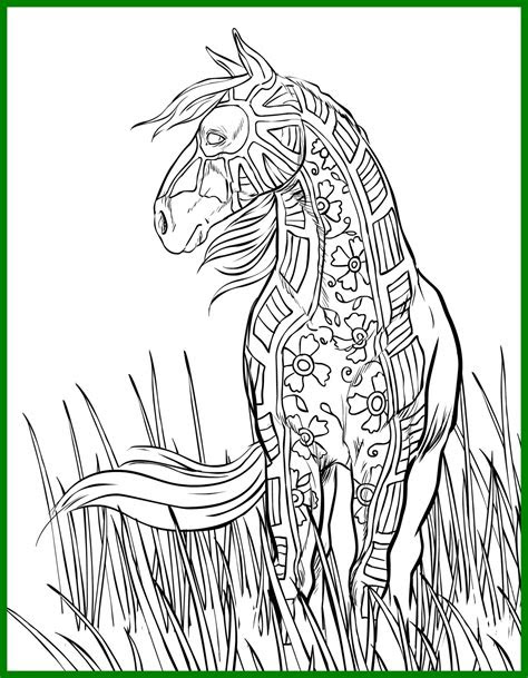 realistic horse coloring pages  getcoloringscom