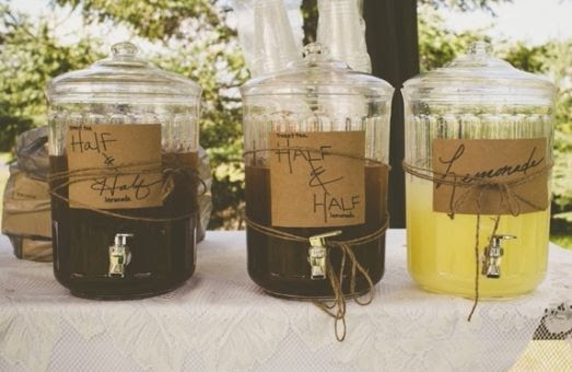 This #sweet down home wedding served guests #lemonade and Arnold Palmers! #wedding #drinks On Wedding Chicks