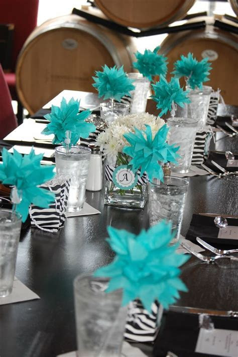 Party Pretty Design: Teal and Black Bridal Shower   Kamryn