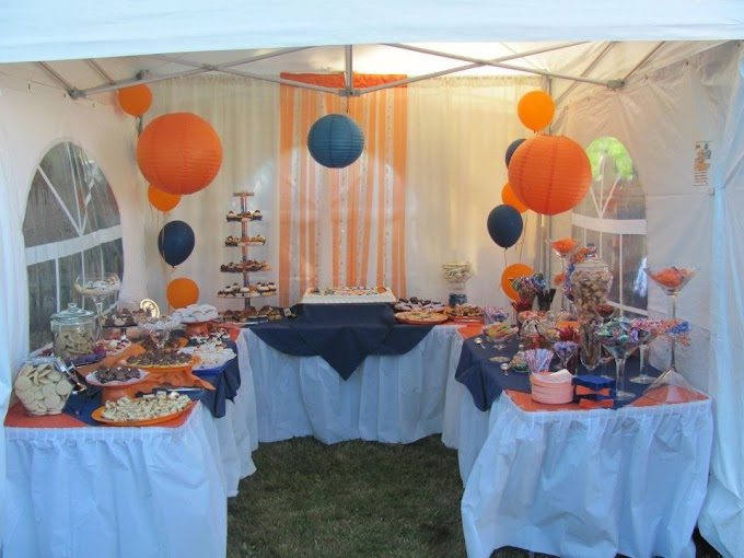 Luxury Orange And Blue Home Decor Photograph